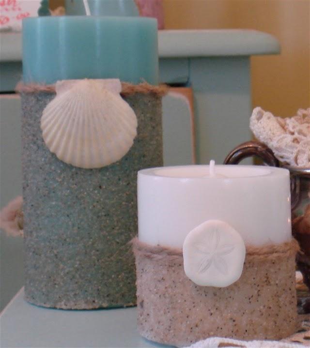 DIY Κεριά διακοσμημένα με Άμμο