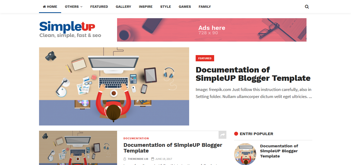SEO Blogger Template Simpel