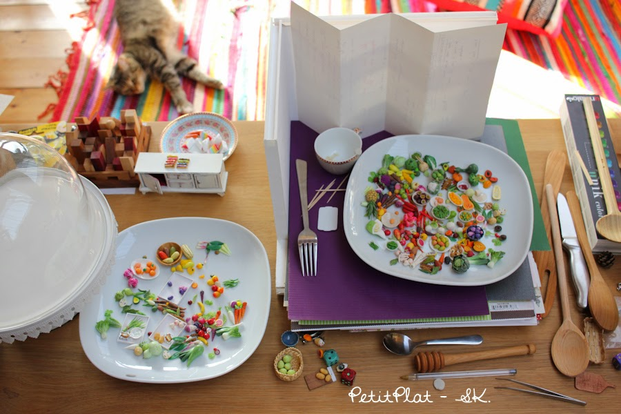 Mini fruit and veggies, Stephanie Kilgast, PetitPlat Miniature Food.