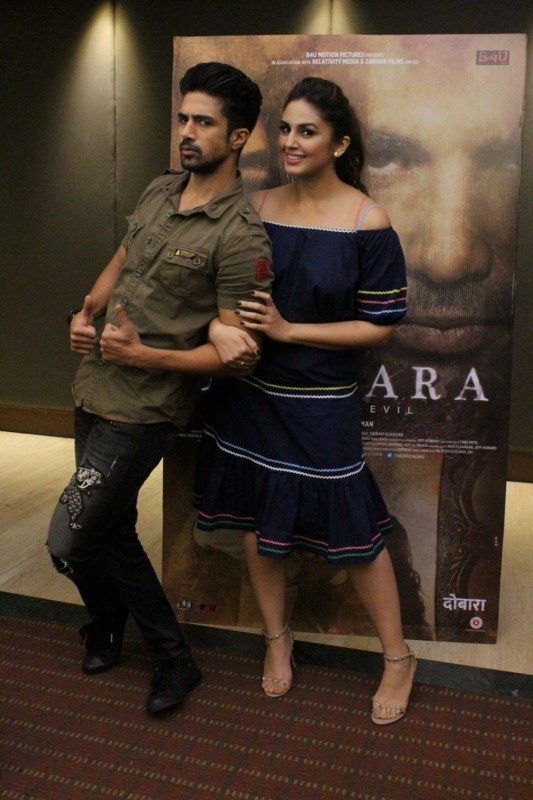 Saqib Saleem and Huma During an Interview For Movie Dobaara