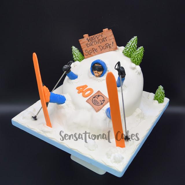 The Sensational Cakes Ice Skiing Custom Theme Cake Singapore