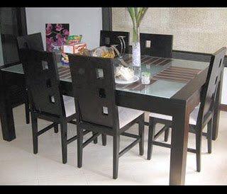 meja makan minimalis dengan jok busa murah jepara