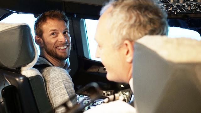 Formula 1 Star Jenson Button Enjoyed A British Airways A380 Flight Simulator