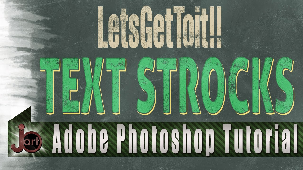 Text Strokes effect using smart objects | Adobe Photoshop Tutorial