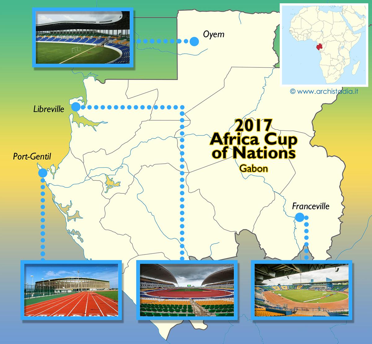 guida stadi coppa d'africa 2017 gabon calendario