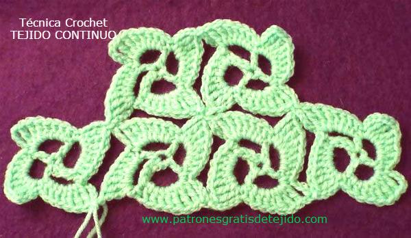Técnica Crochet Crochet Continuo Video Crochet Y Dos Agujas