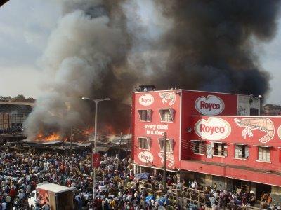 Ghana Kumasi Central market fire