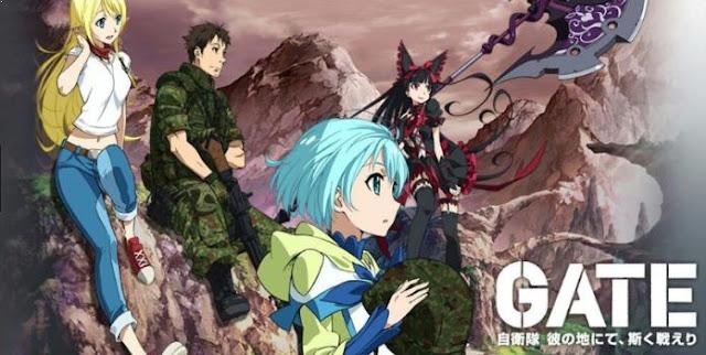 Gate: Jieitai Kanochi nite, Kaku Tatakaeri Daftar Anime Isekai Terbaik ( Tokoh Utama Masuk Dunia Lain )
