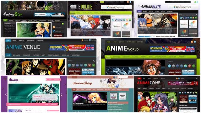 15+ Free Collection Anime Wordpress Themes