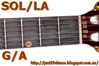 acorde guitarra guitar chord (SOL con bajo en LA)