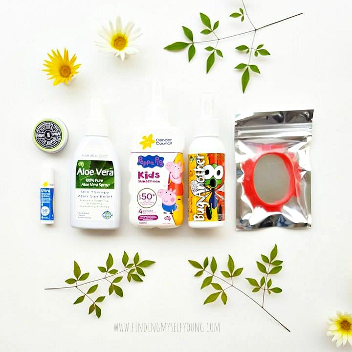 Little Minx Milestones summer care package flatlay