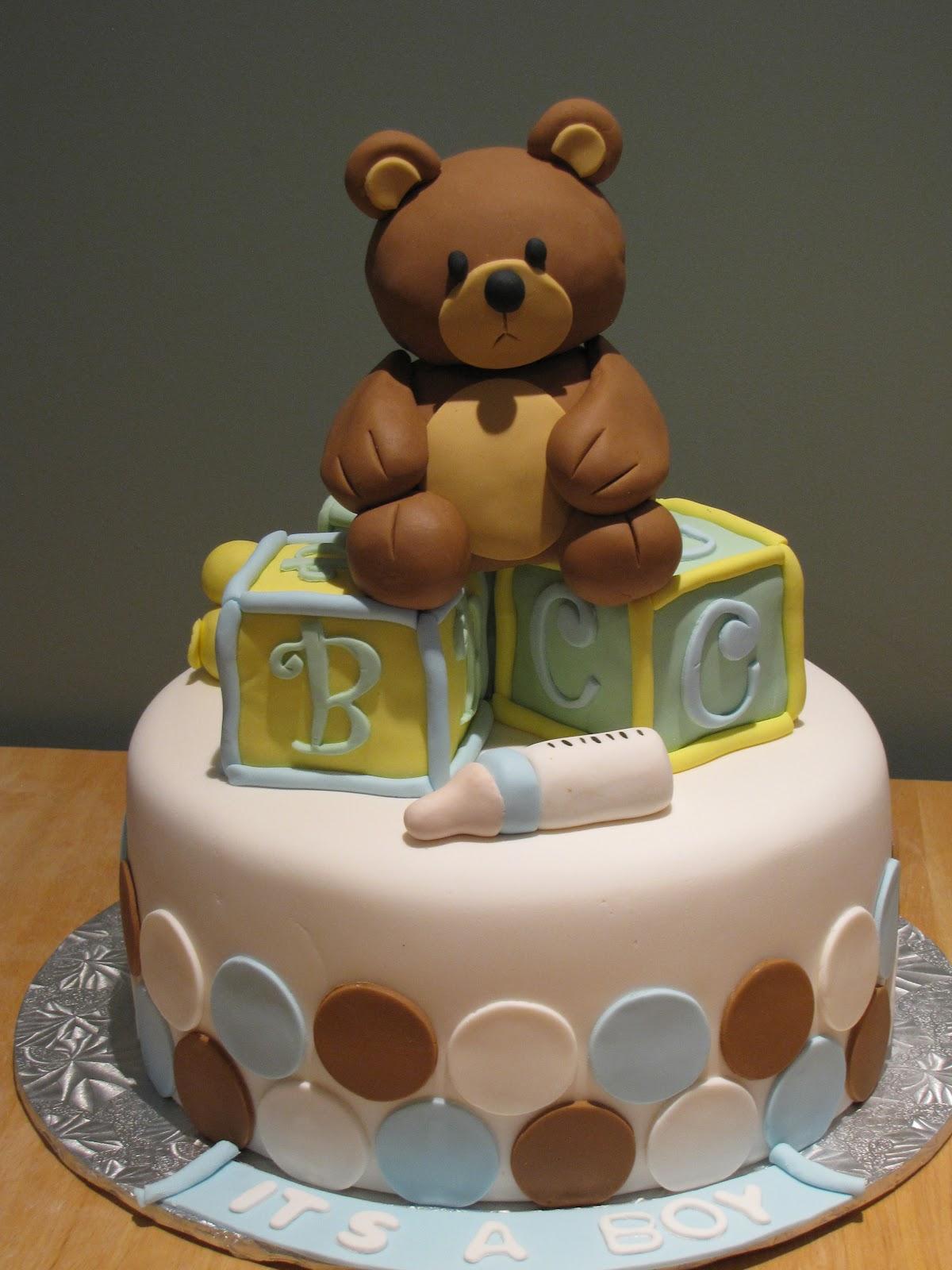 Ann Marie S Creative Cakes Teady Bear Baby Shower Cake