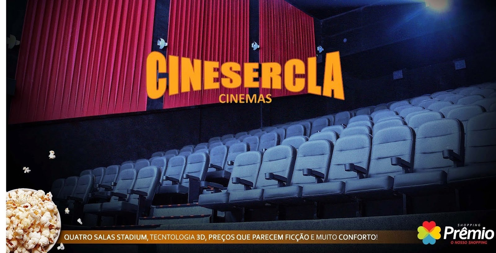 Programação do Cinema do Shopping Prêmio