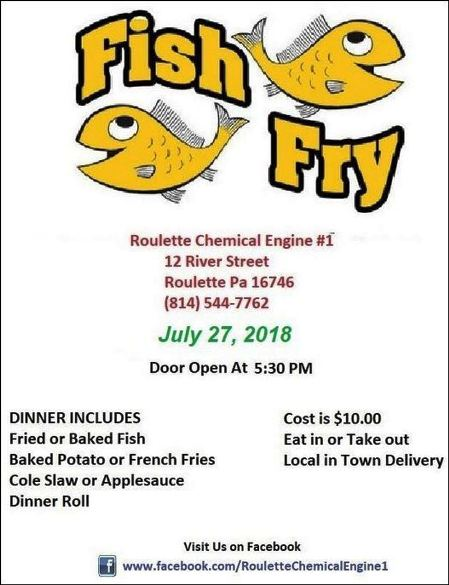 7-27 Fish Fry, Roulette, PA