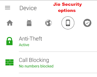 jio security options