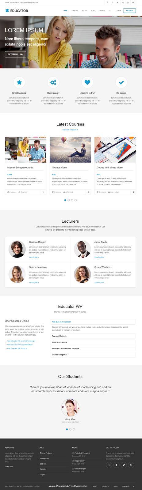 Premium Learning Management System Theme
