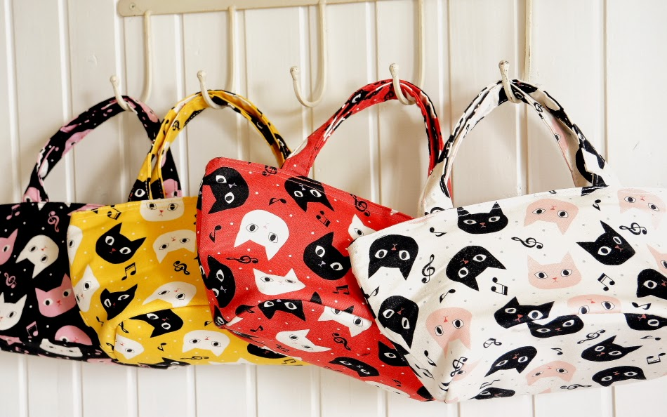 Yozo Craft: Cute Japanese Kokka Fabric Insulated Lunch Bag Tote