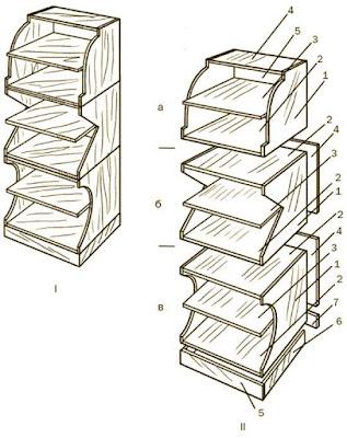 Сборочный чертеж, схема модульного стеллажа