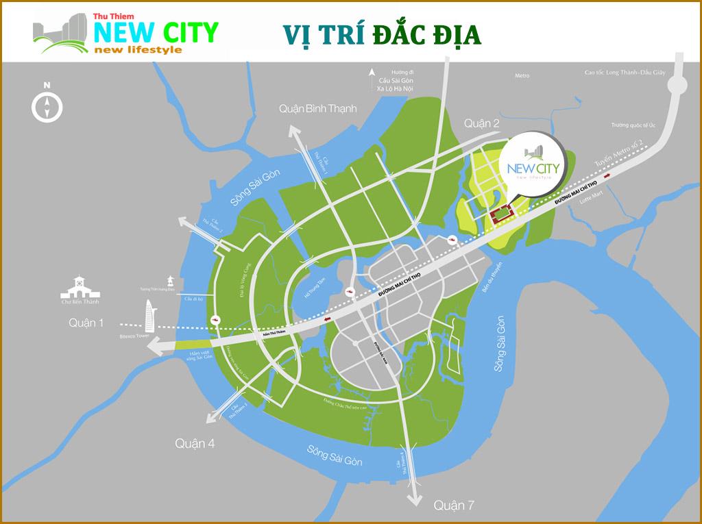 Vị trí dự án New City Thủ Thiêm