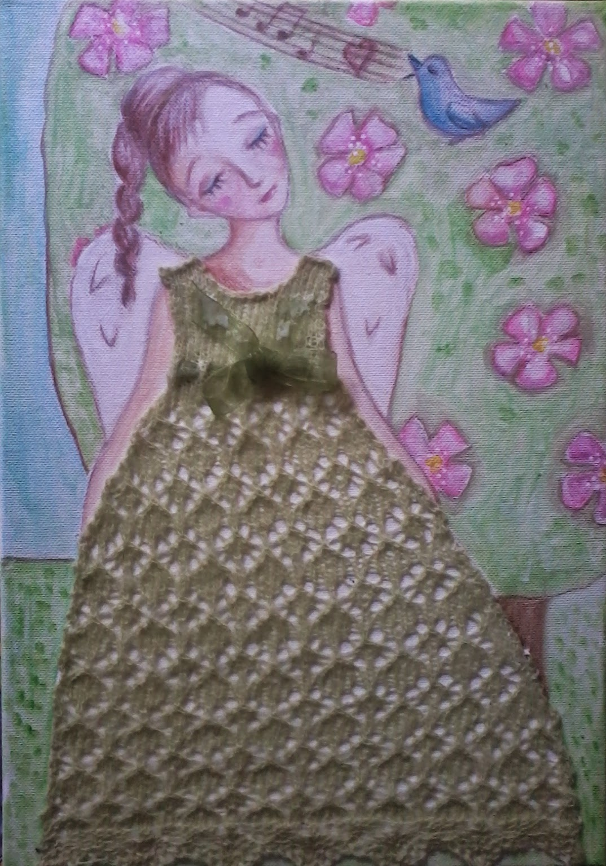 #Aide #leit #laced #painting #haapsalu #lace #spring #blooming apple tree #haapsalu #pitsikeskus #näitus