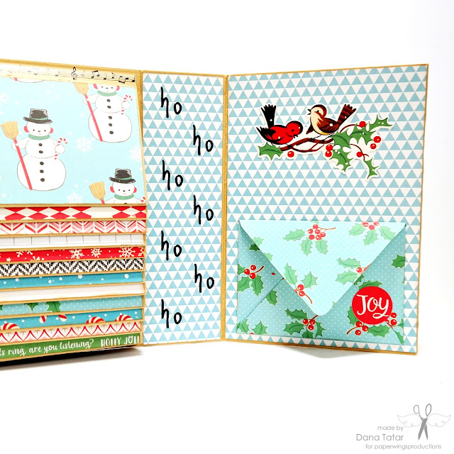 Repetitive Seasonal Stamping in December Daily Album by Dana Tatar for Paper Wings Productions