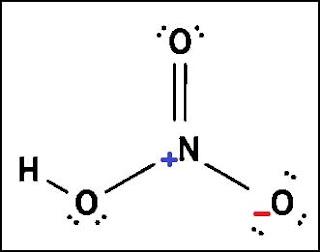 struktur lewis dari HNO3