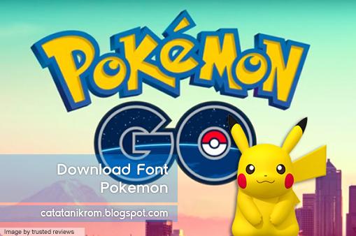 Catatan Ikrom Download Font Pokemon
