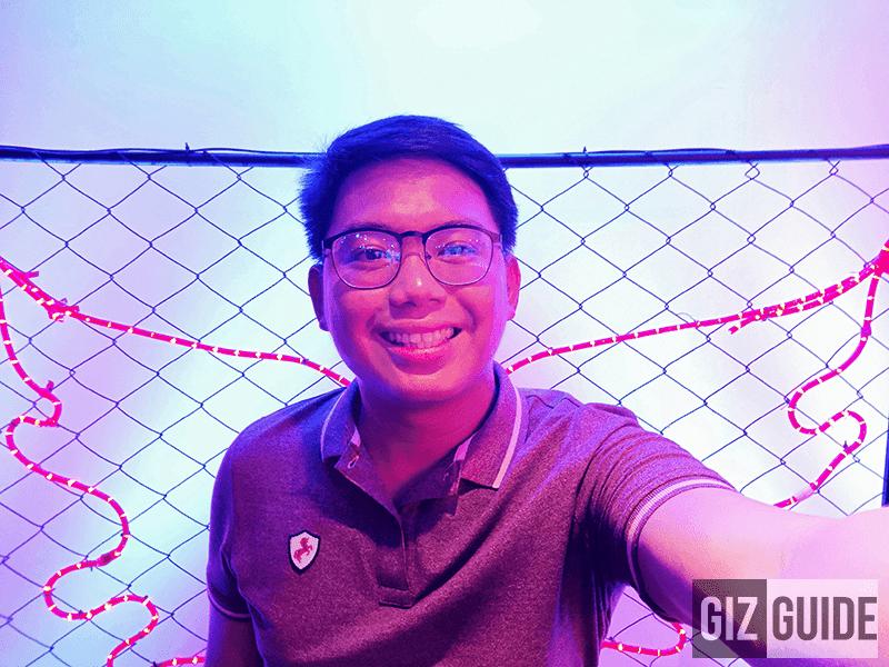 Harsh lighting selfie