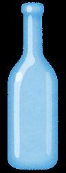 空き瓶のイラスト(青)