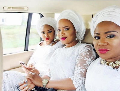 Folake Momoh and Iyabo Ojo at the wedding merriments and thanksgiving service of Ooni of Ife's
