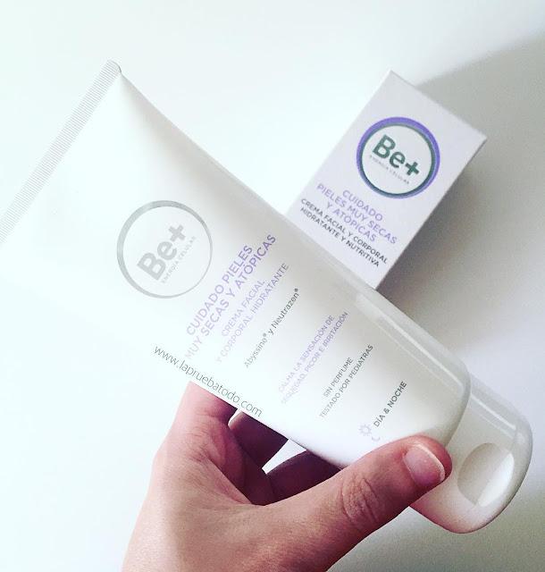 Crema facial y corporal para pieles muy secas y atópicas de Be+ Energía celular