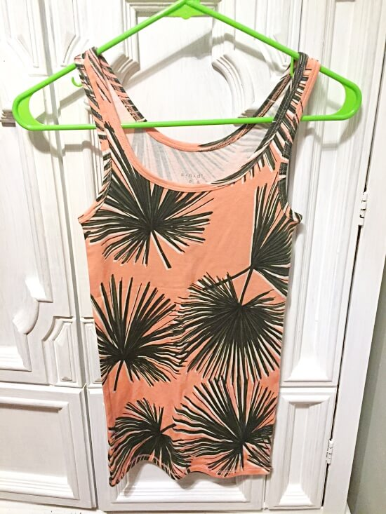 Target A New Day palm print tank top