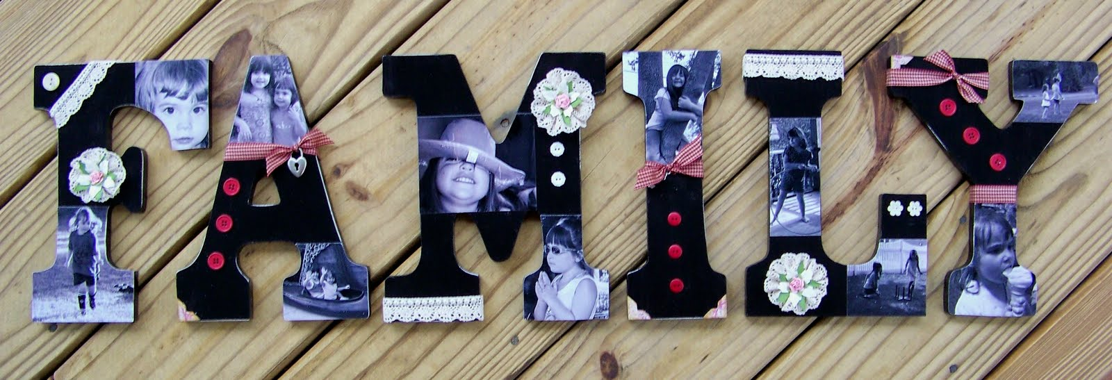 StuckOnUSketches: Decoupaged Wooden Letters Tutorial 6/17