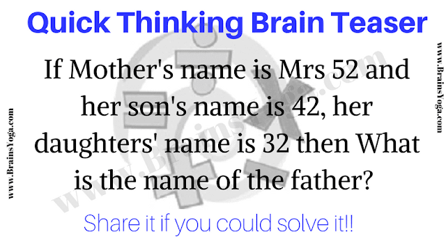 Quick Thinking Brain Teaser for Teens