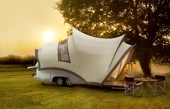 Mobile Home Architecture :: pop-up camper that looks like Sydney Opera House