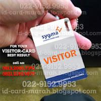 buat id card visitor pengunjung kartu tamu perusahaan sekolah bandung murah