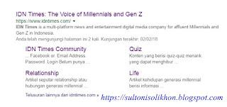 IDN Times Tempat Kongkow Millennials dan Gen Z Zaman Now merupakan review untuk website IDN Times