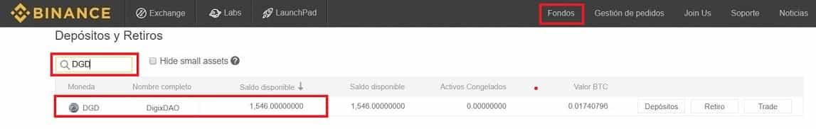 DigixDAO (DGD) Saldo Binance Coinbase Comprar