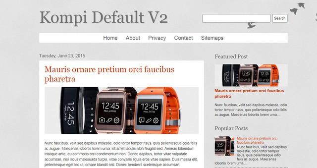 Kompi Default V2 Responsive Blogger Templates