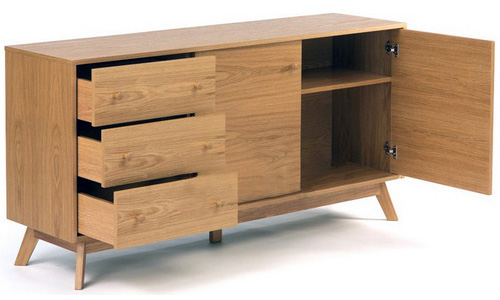 TV table home and office file cabinets natural solid teak wood from Jepara