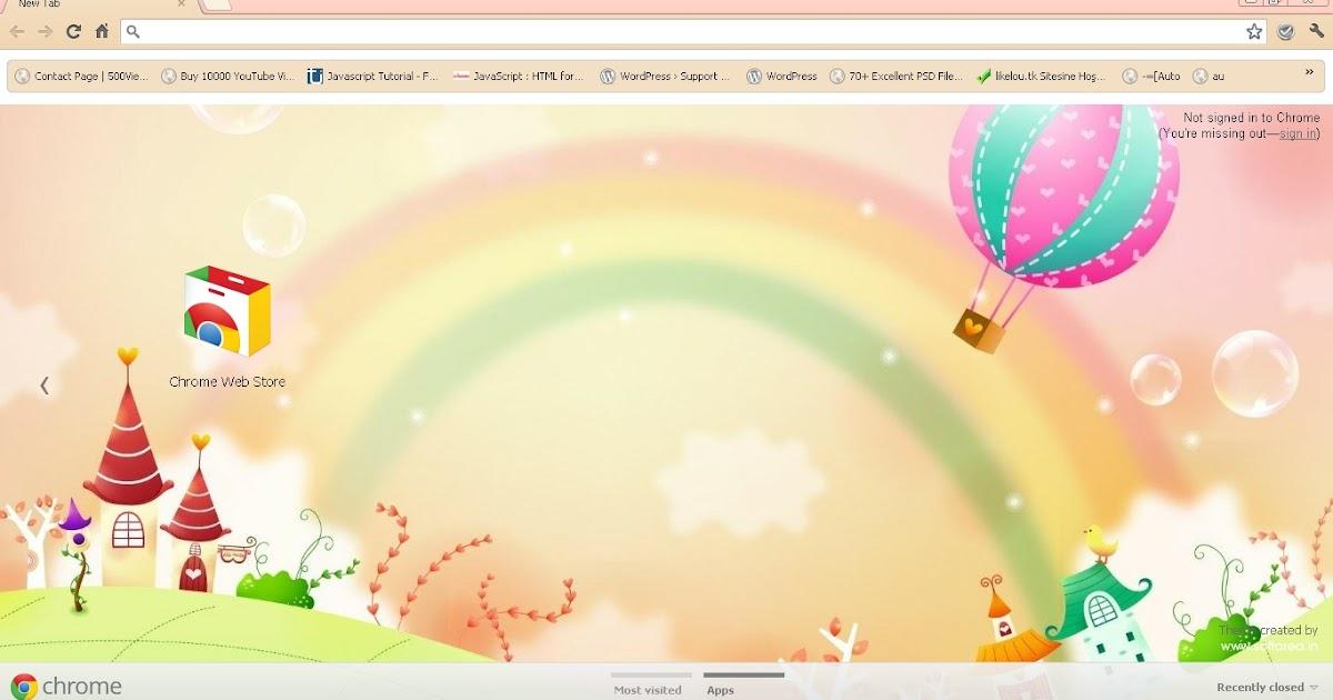 Rainbow google chrome theme - Google chrome 3d home design app ...