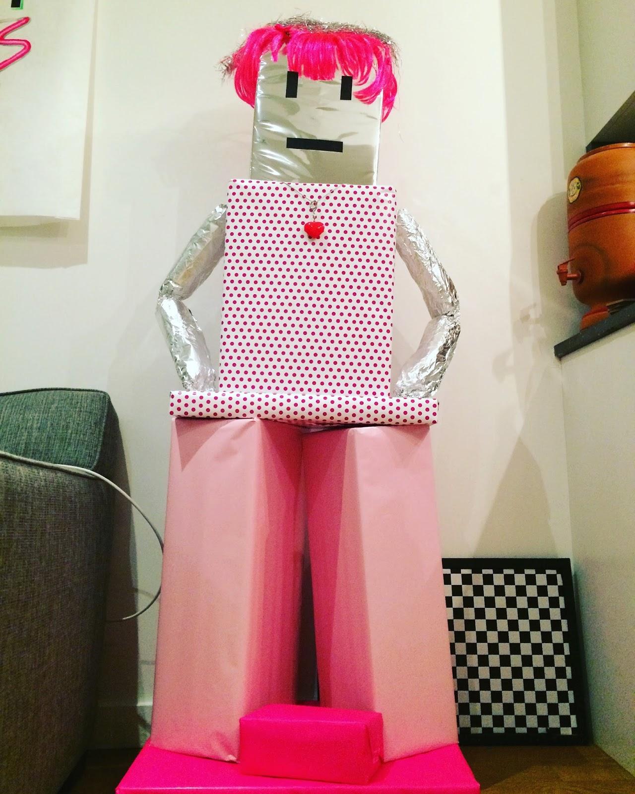 Robot Made Of Birthday Presents