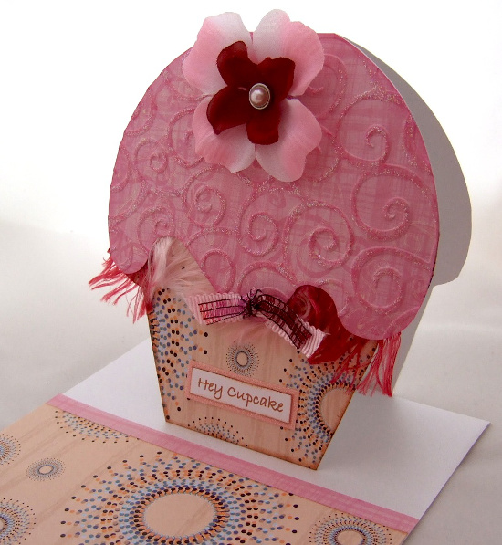 Cupcake shaped handmade cards are always a lot of fun to make pink and cream cupcakes handmade card