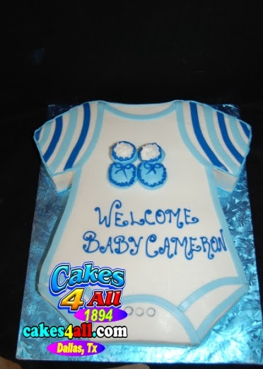 Cakes 4 All In Dallas Blue Onesie Baby Shower Cake Dallas