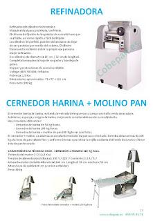 Refinadora cilindros horizontales, cernedor harinas con molino