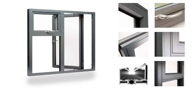 Cửa sổ kính khung nhôm có cầu cách nhiệt