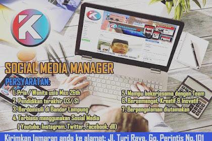 Lowongan Kerja Kupas Lampung Juli 2018
