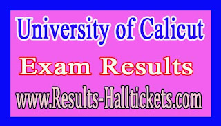 University of Calicut M.A (Multimedia) IVth Sem 2016 Exam Results