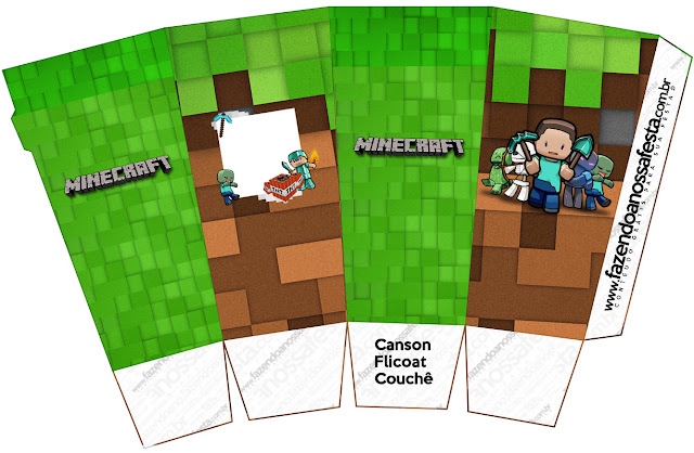 Minecraft: Cajas para Imprimir Gratis.