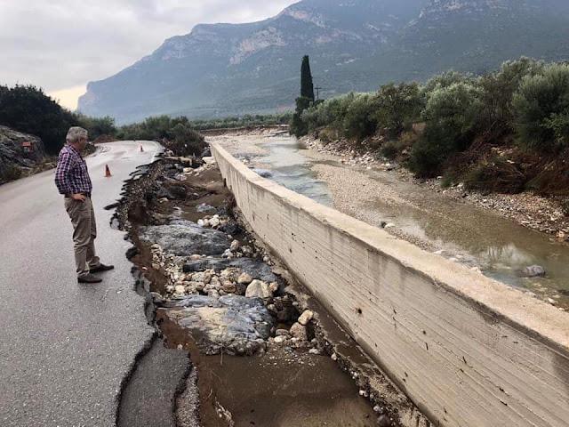 """Γ. Μανιάτης: Ανοιχτές και πολλές οι πληγές της Αργολίδας, μια βδομάδα μετά τις πλημμύρες που προκάλεσε ο """"Ζορμπάς"""""""